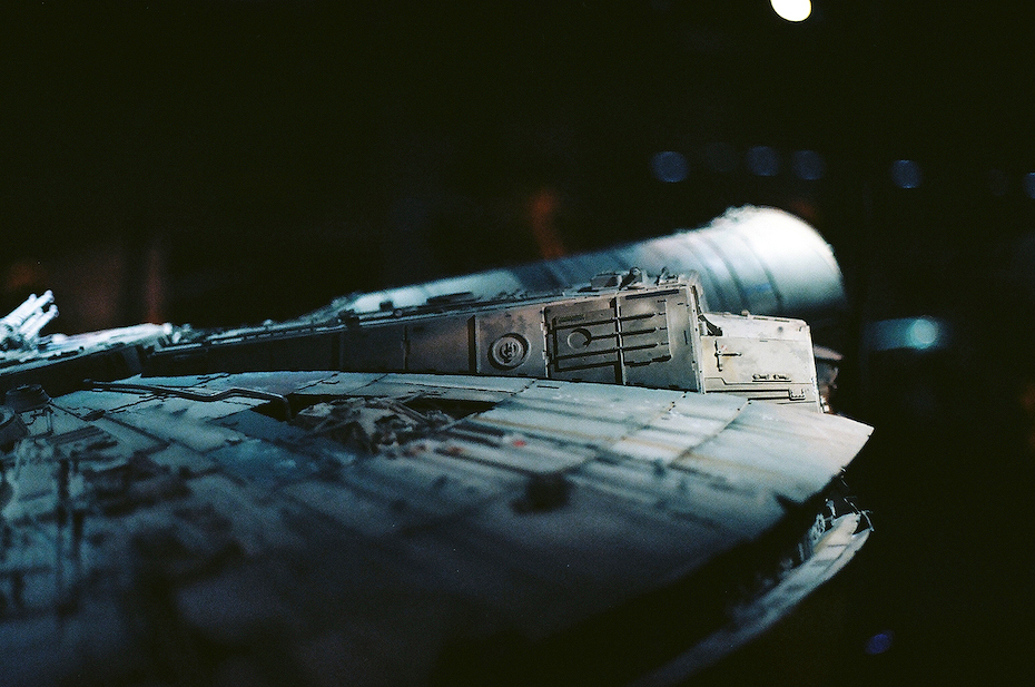 Ellingsen Photography Ektar Film Scans Star Wars Exhibit Millenium Falcon Detail