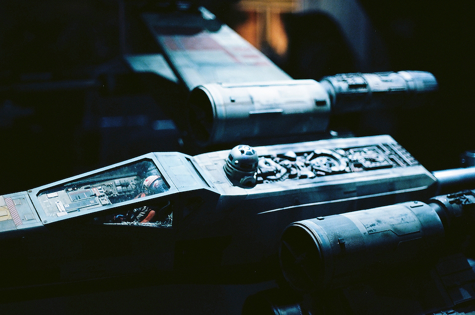 Ellingsen Photography Ektar Film Scans Star Wars Exhibit Lukes X-Wing