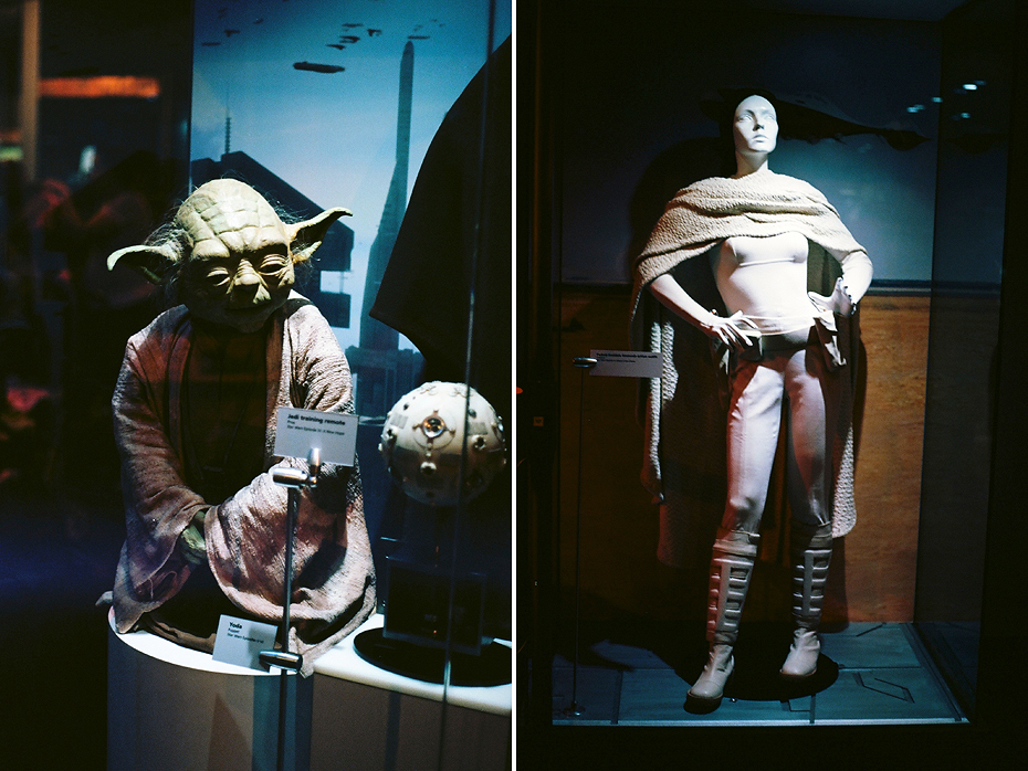 Ellingsen Photography Ektar Film Scans Star Wars Exhibit Yoda and Padme