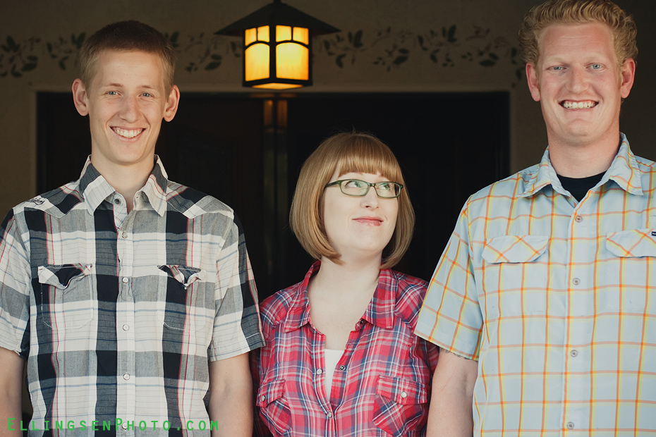 Ellingsen Photography Trude and Her Tall Brothers