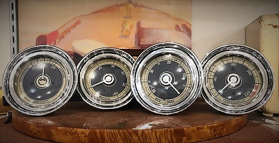 1940-41 Blue Cream Chris Craft gauges