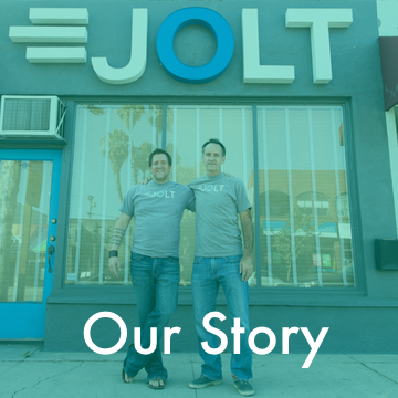 """With over 20 years experience in the restaurant delivery business, Jolt is where """"Geek"""" meets """"Street"""". Find out why we stand out."""