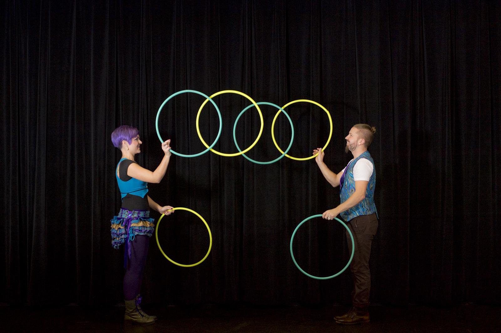 Inspyral Juggling Hoops