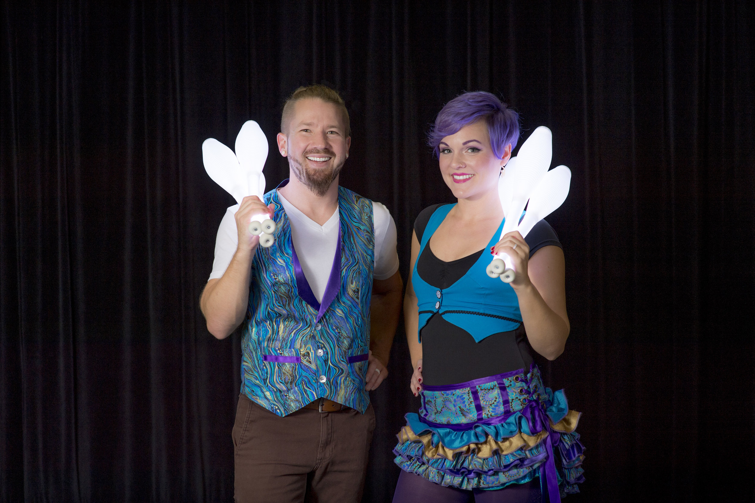 Jeremy & Kelsey Philo perform exciting shows with an empowering message.