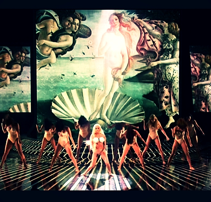 Lady Gaga imitating art on The X Factor, 2012. Traditional or titillating?