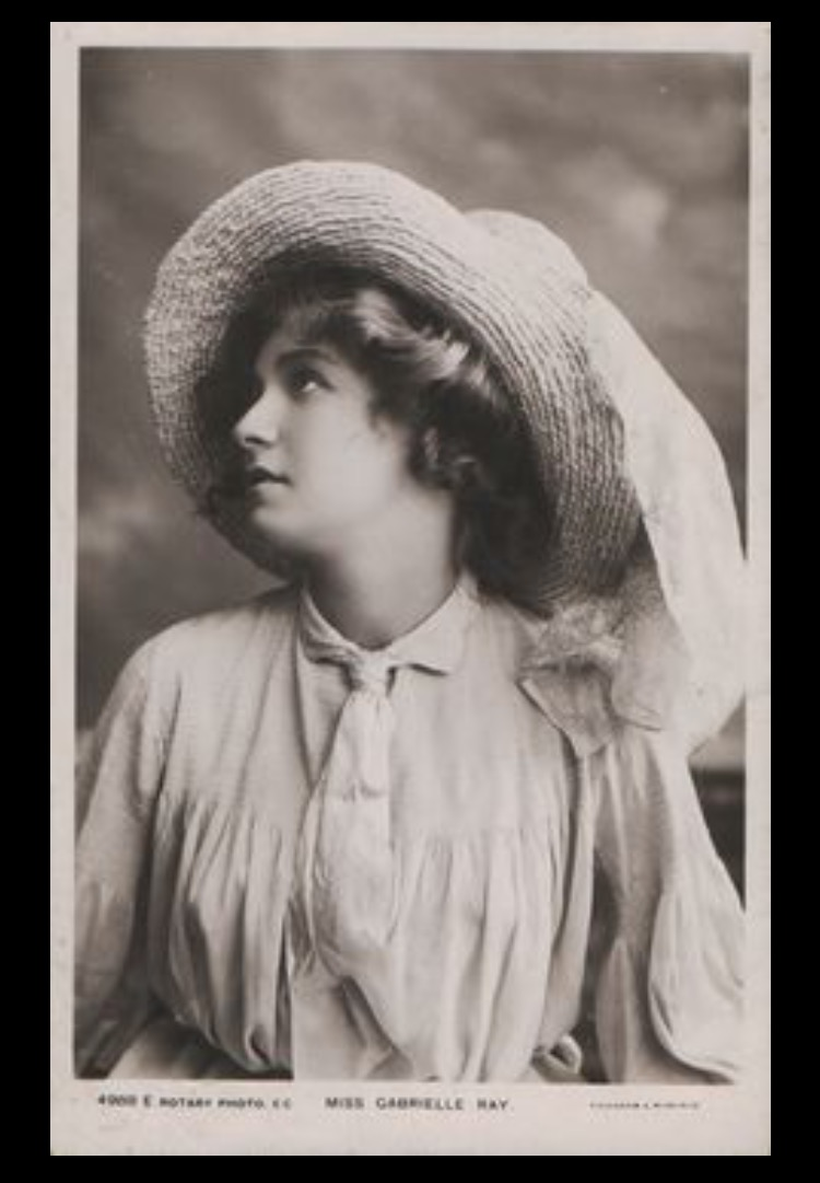 Early Edwardian Actress Lucy Weston who graced the stage - in fine fashions.