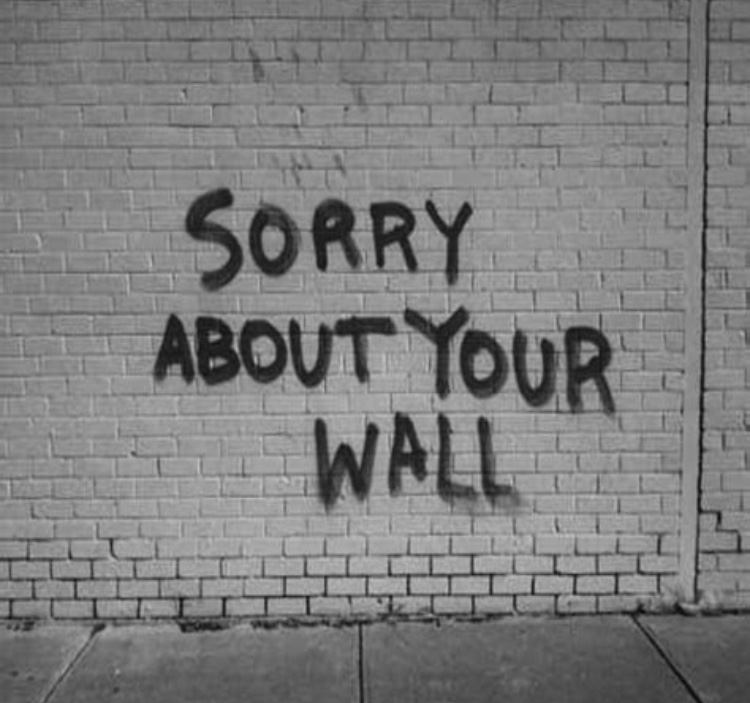 Psst. We are not sorry about your wall.