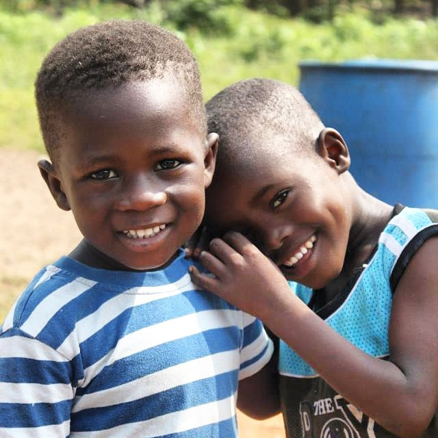 Our two favorite trouble makers! We built a school for their village and these two are now Empathy FX students!! Happy Saturday :) #Ghana #empathyfx #love #smiles #friends #cuties #childhoodfriends #throwback