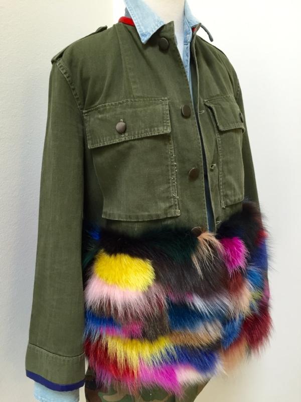 harvey faircloth patch fur army jacket