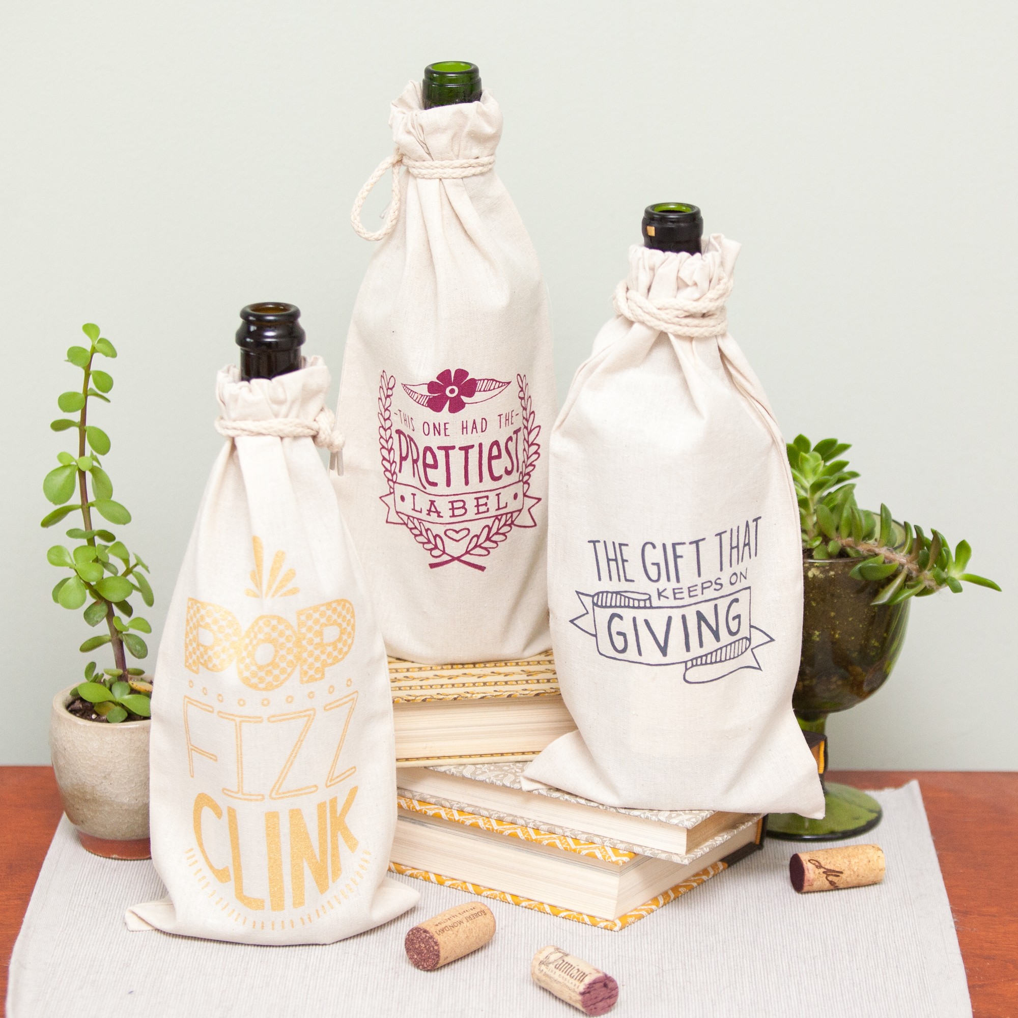 wine gift bags by exit343design