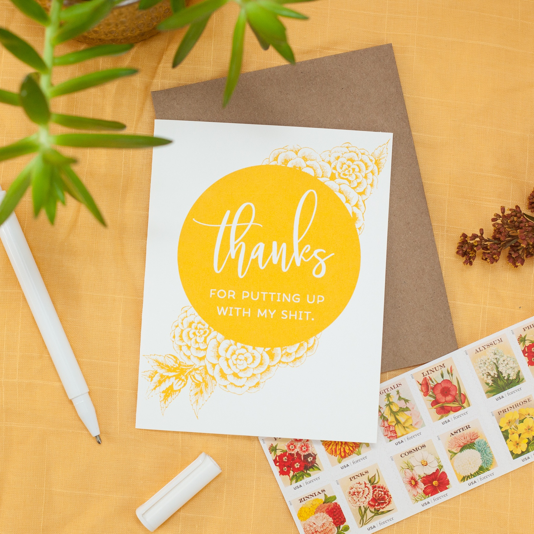 funny thank you card by exit343design