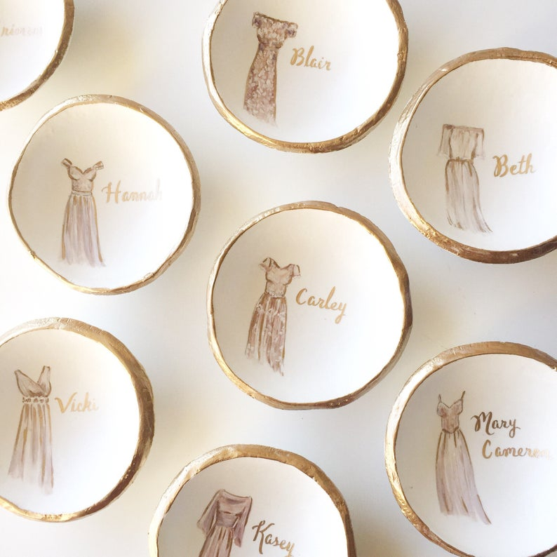 custom ring dishes by The Painted Press