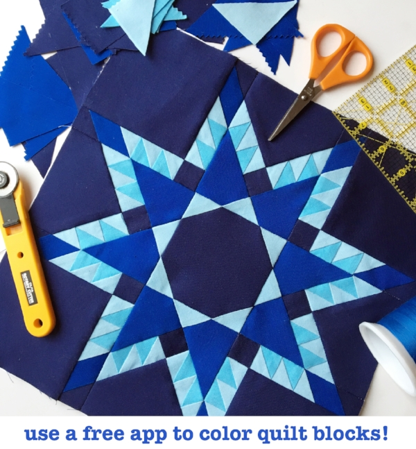 Using The Recolor App To Color A Quilt Block Threaded Quilting Studio