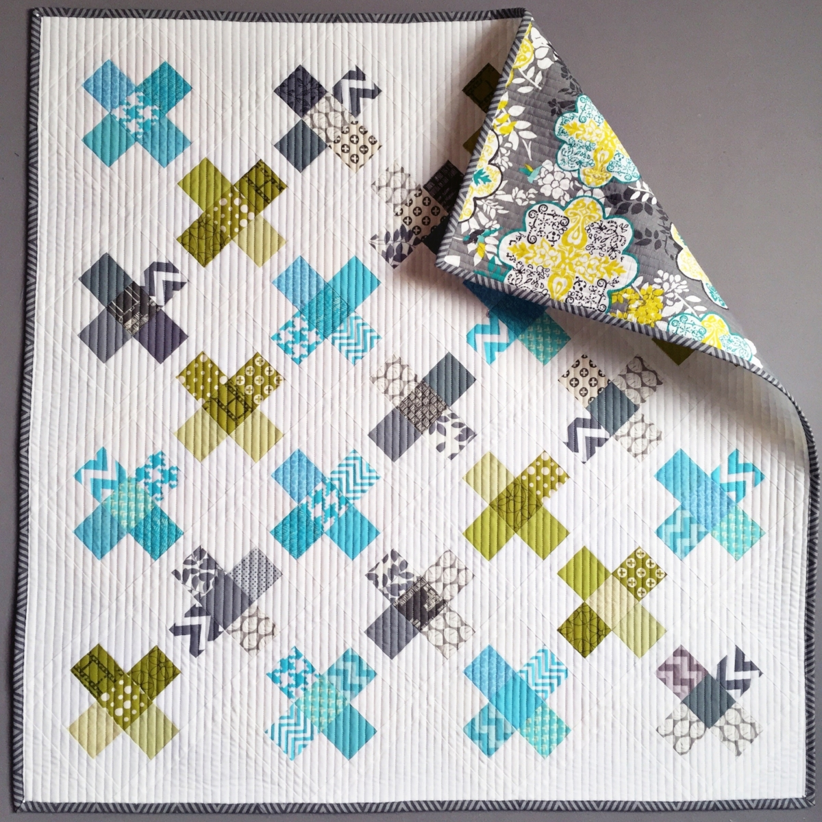 Easy-peasy straight line quilting looks great on this top!