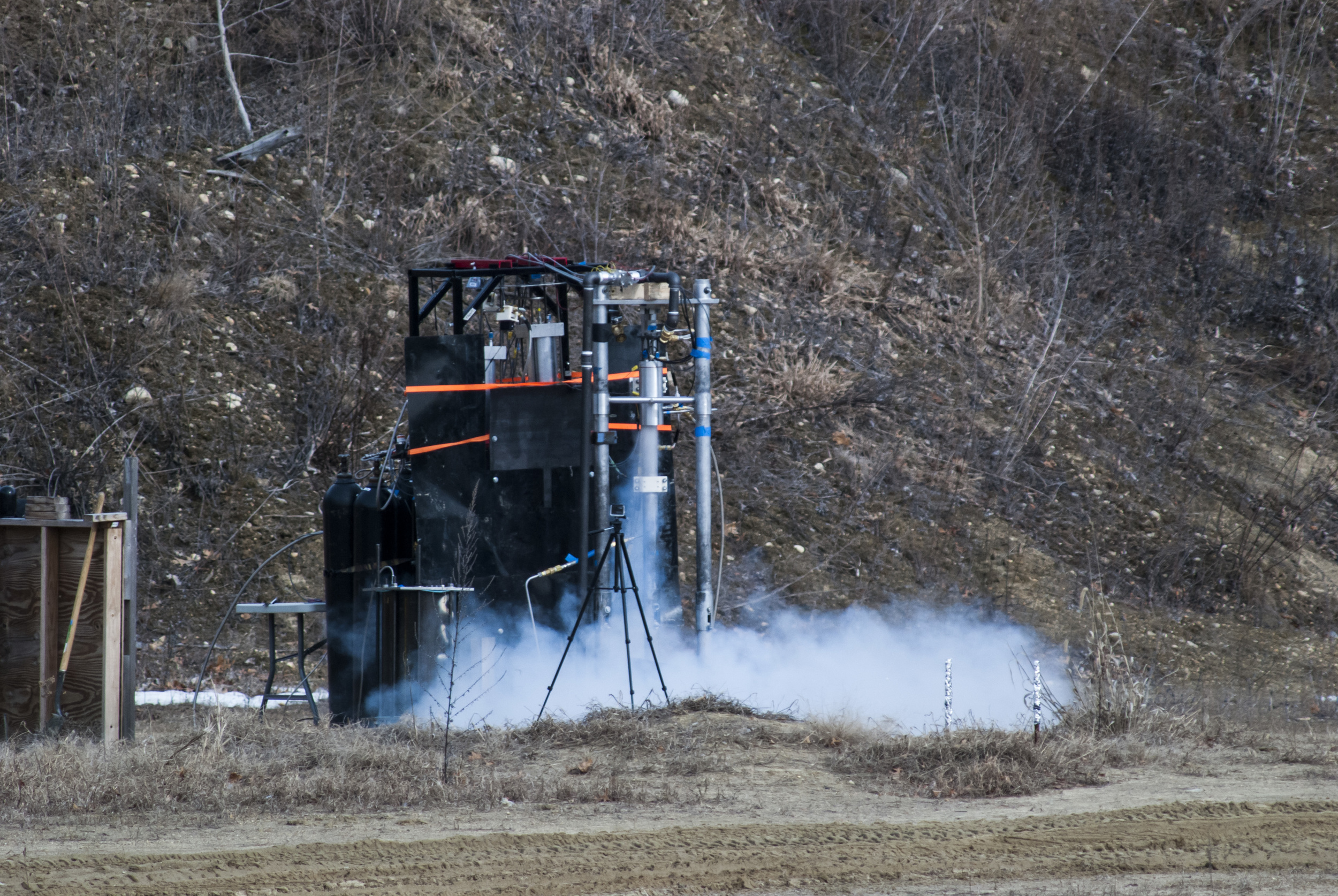 Lotus Dev engine during a cold flow test