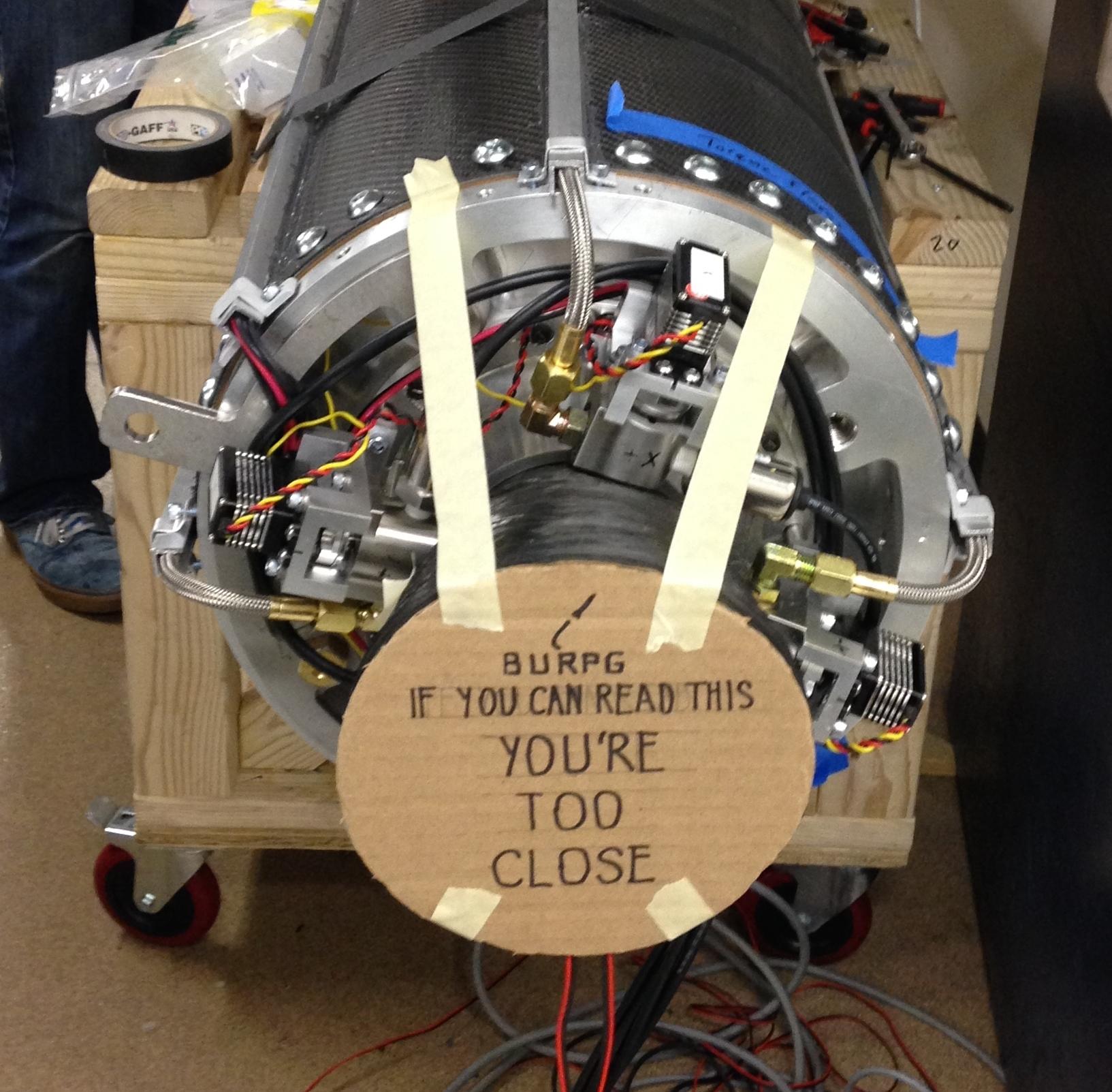 Detail of LITVC valves on Mk V engine