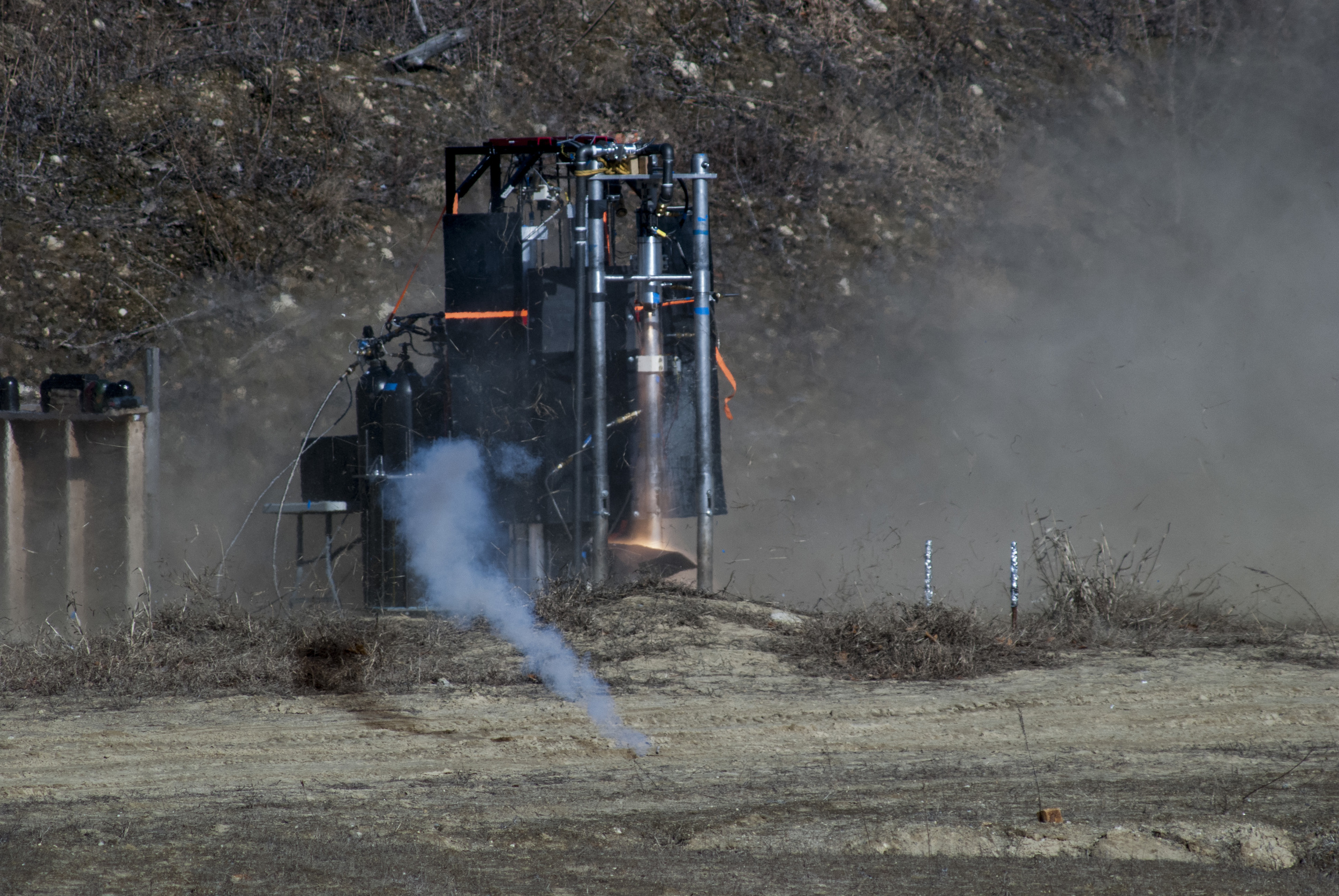 Lotus during hot fire testing