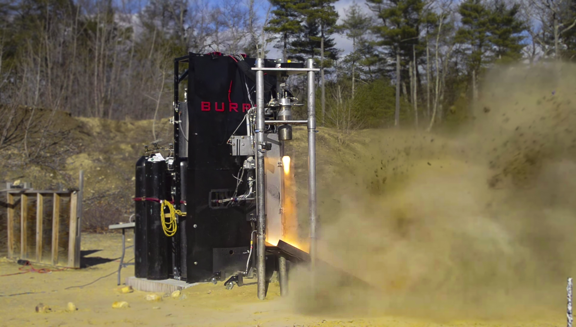 Iron Lotus Hot fire on Vertical Test Stand