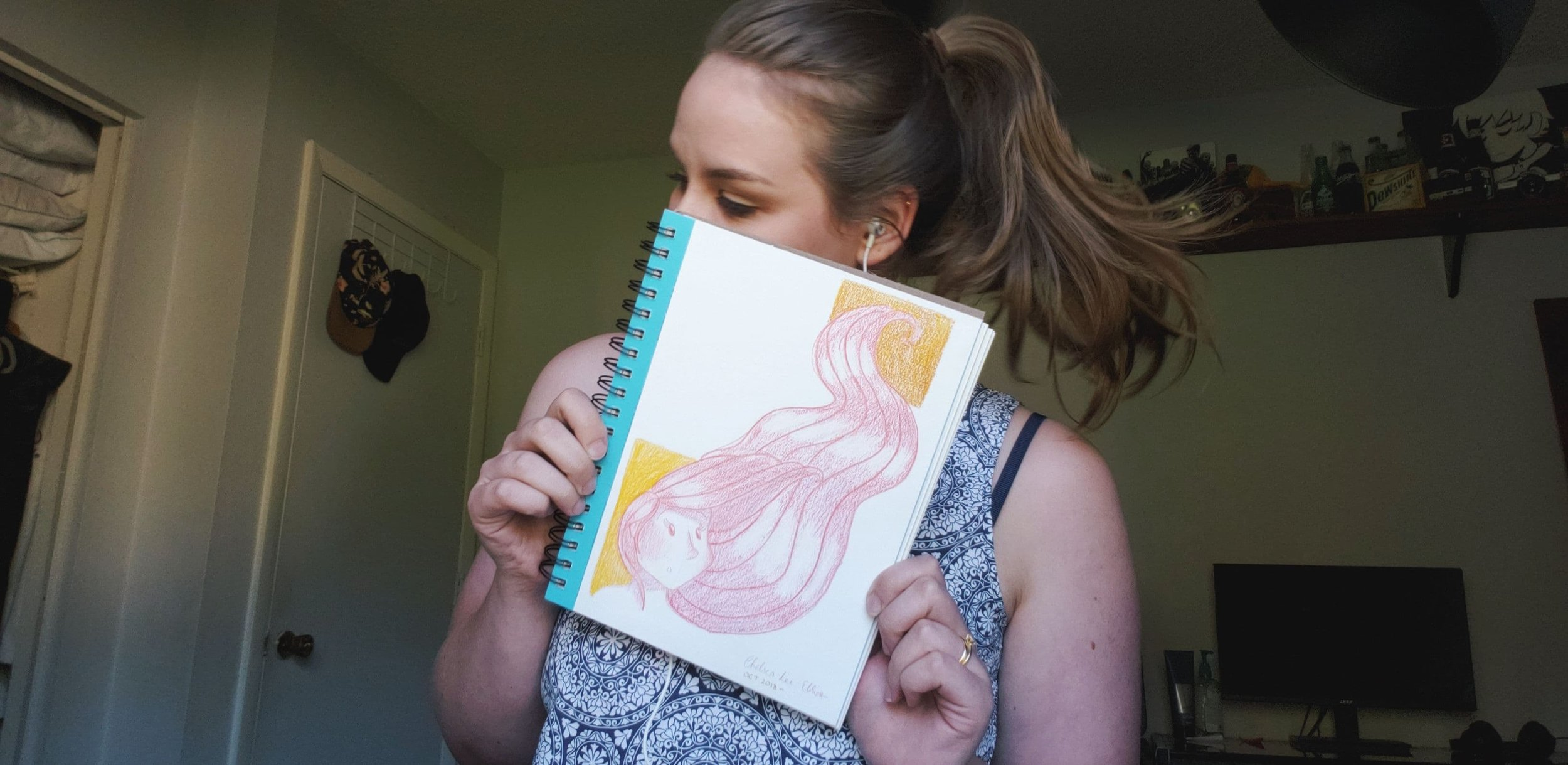 The cover of my new sketchbook that I've started this month!