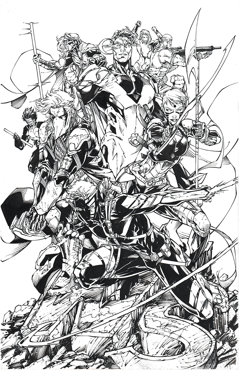 Commission pencilled by  Brett Booth