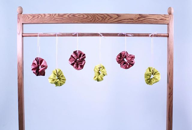 silky scrunchies 🍇🍋 by @babesjubilee you can snag your own @whiteelephantshop