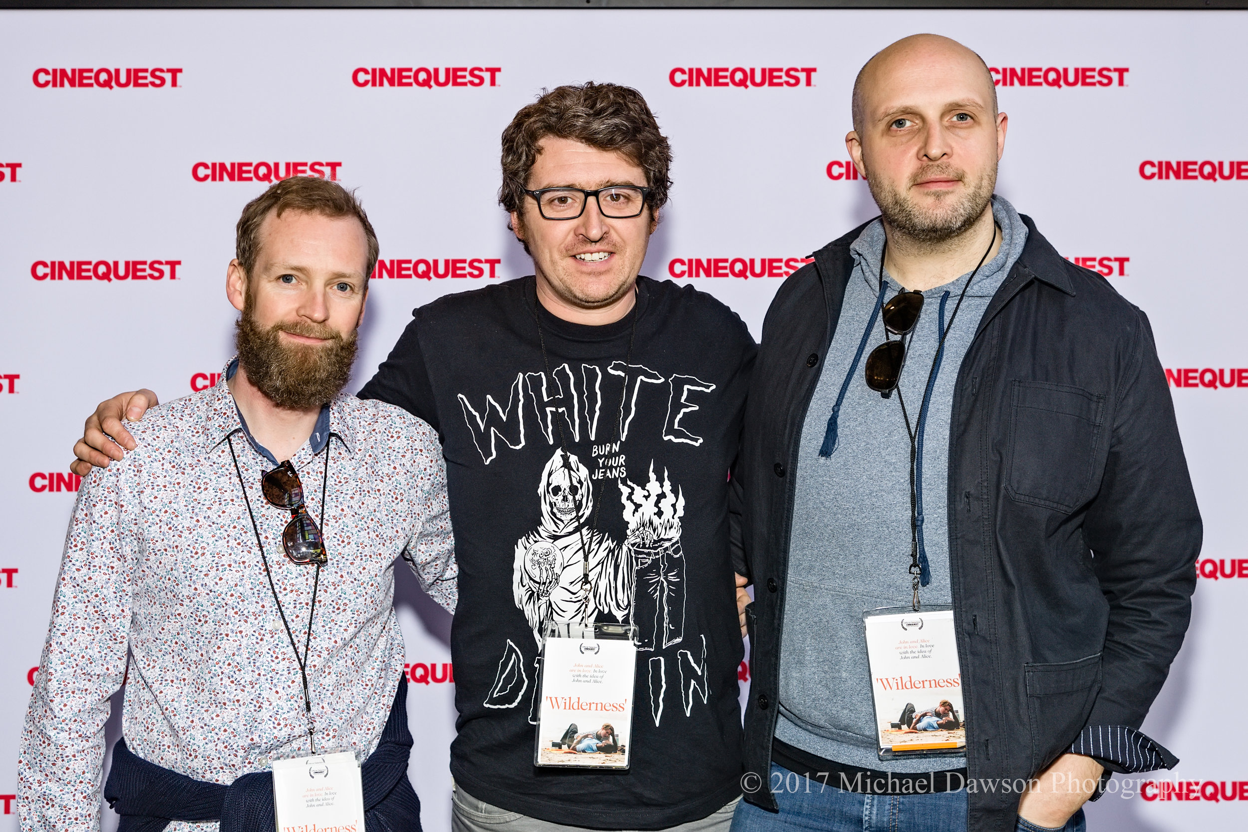 Executive Producer Kingsley Marshall, me, and director Justin John Doherty at the 'Wilderness' World Premiere, March 2017.