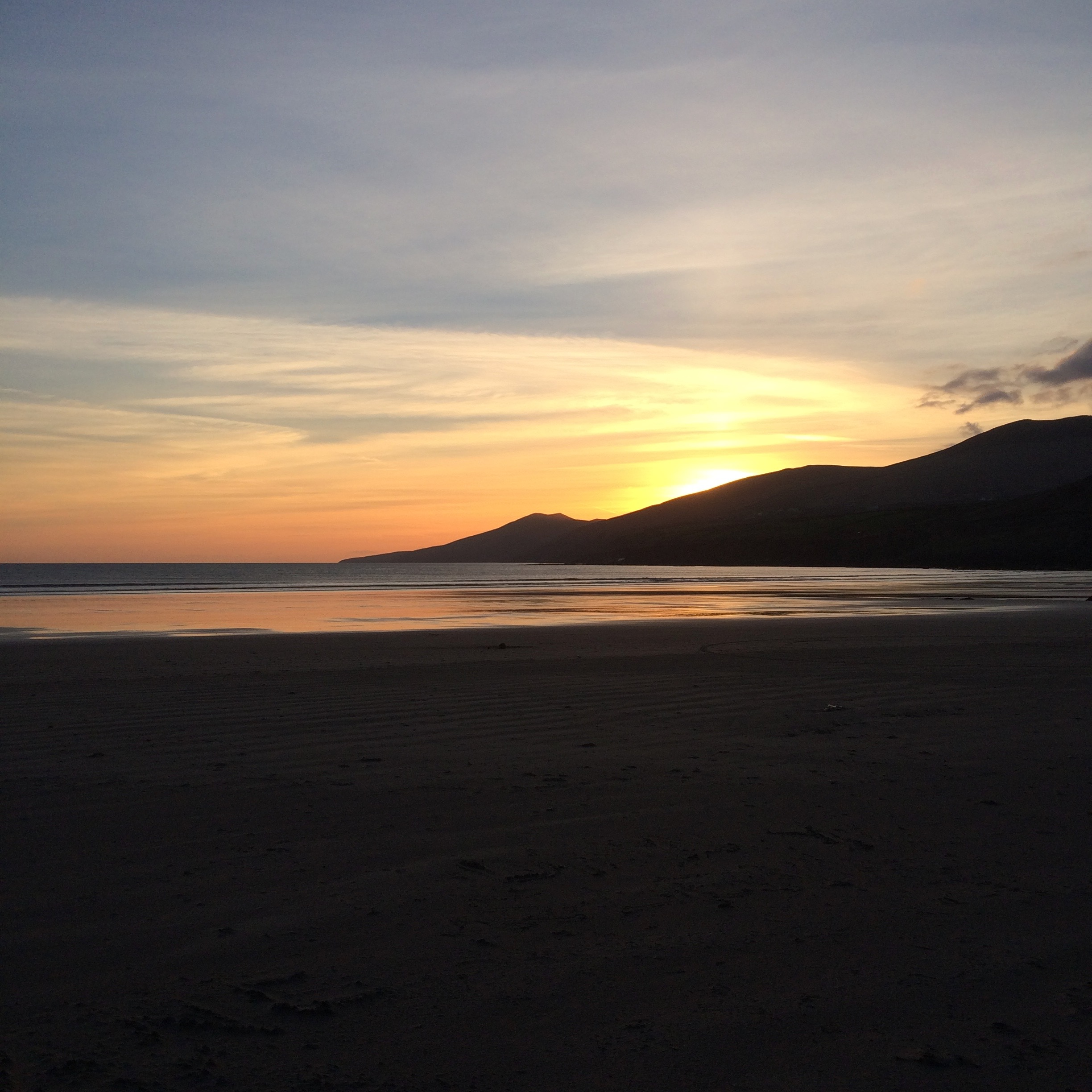 Incredible sunset on arriving on the Dingle Peninsula, Ireland