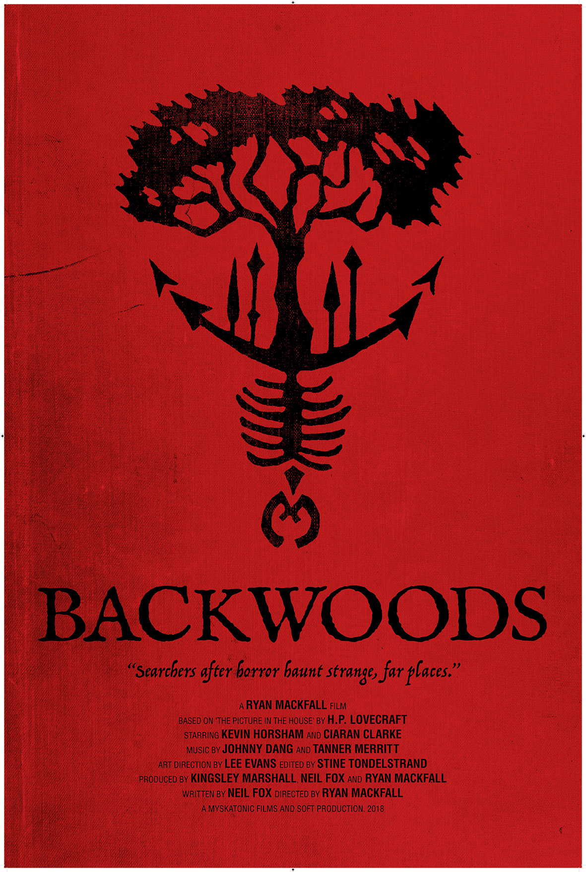 Artwork for  Backwoods  designed by Angela Annesley. (c) Ravenstongue Prints 2019.