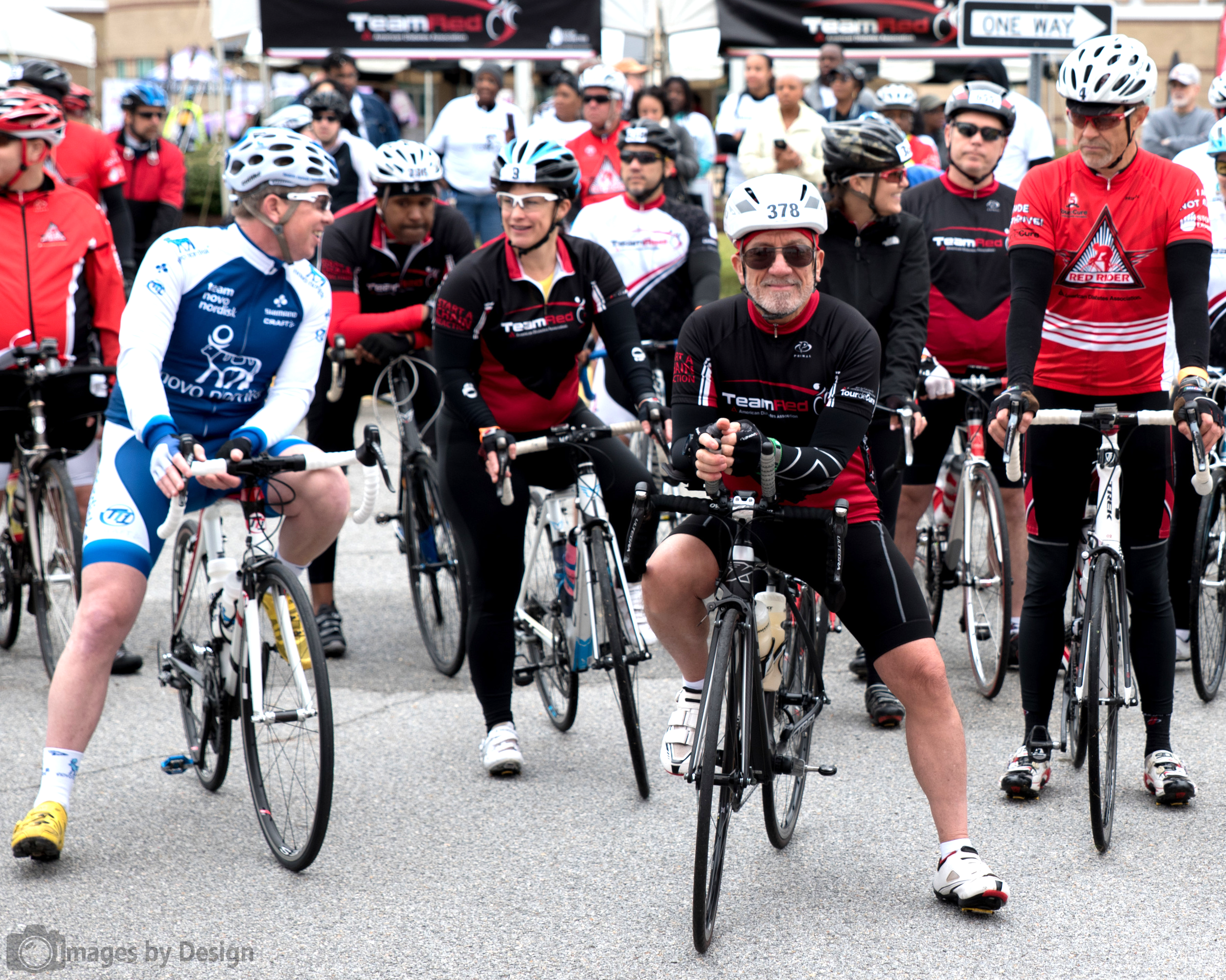 Riders ready at the start for the 100 mile route - Tour du Cure Hampton Roads 2016