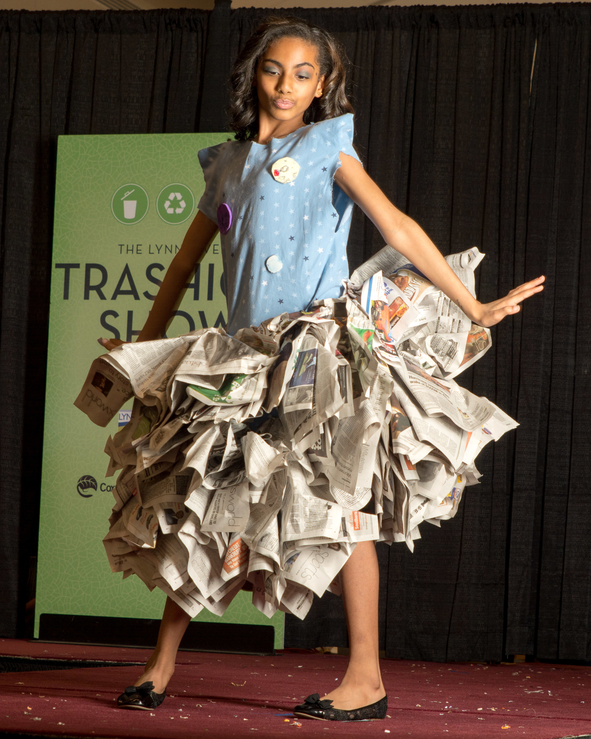 "I volunteered to shoot a ""Trashion Show"" in February - High School aged designers upcycle discarded materials into high fashion."