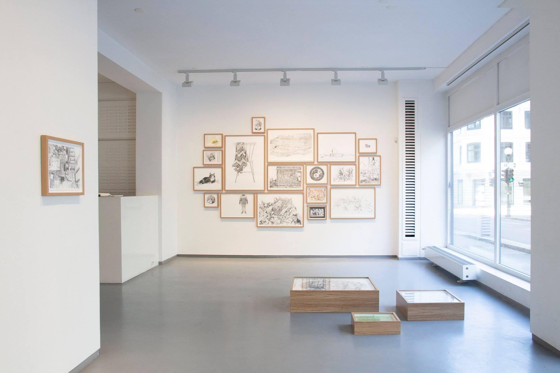 Installasjonsfoto/Installationphoto,  Tilfeldige minner/ Random Memories , Tegnerforbundet, Oslo 2019  Foto: tegnerforbundet
