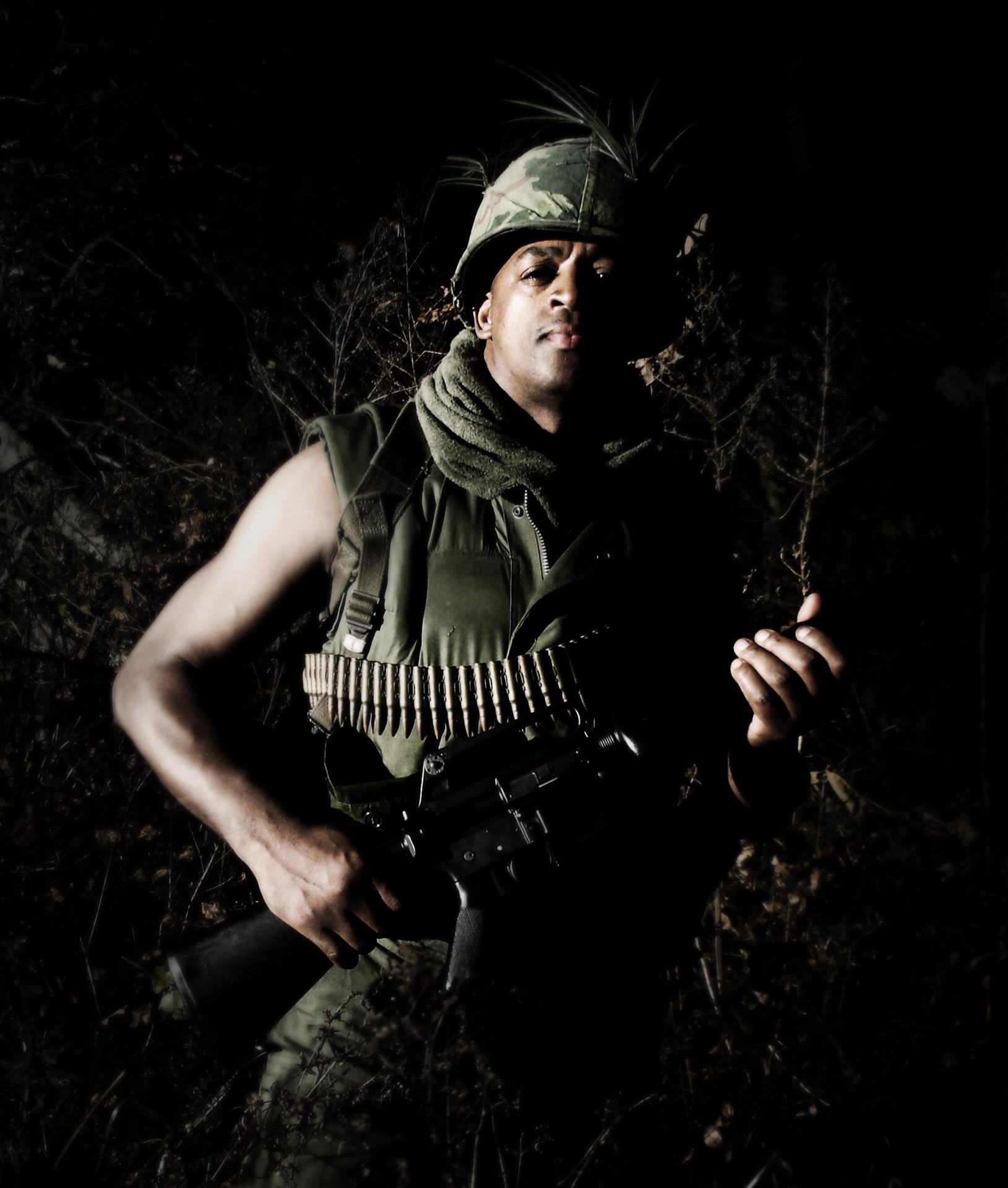 Vietnam Soldier Reenactor