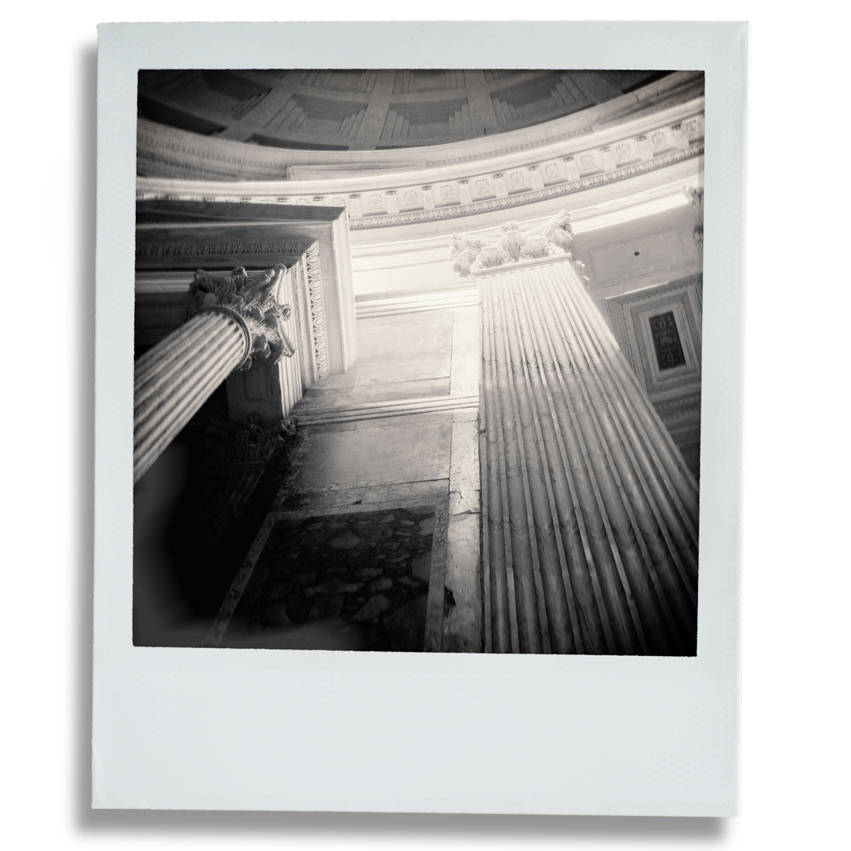 Pantheon, Rome photographed with a vintage Polaroid SX-70 camera using  'Impossible Project' Instant Film