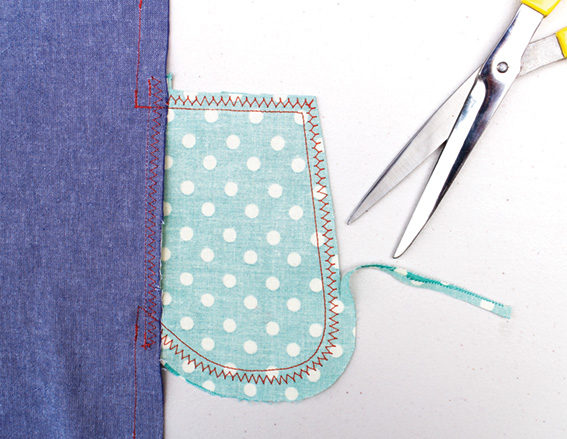 Step by step to sewing an inseam pocket