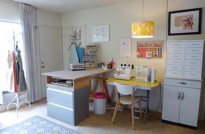 Sneak peak at Christine's very tidy sewing studio!