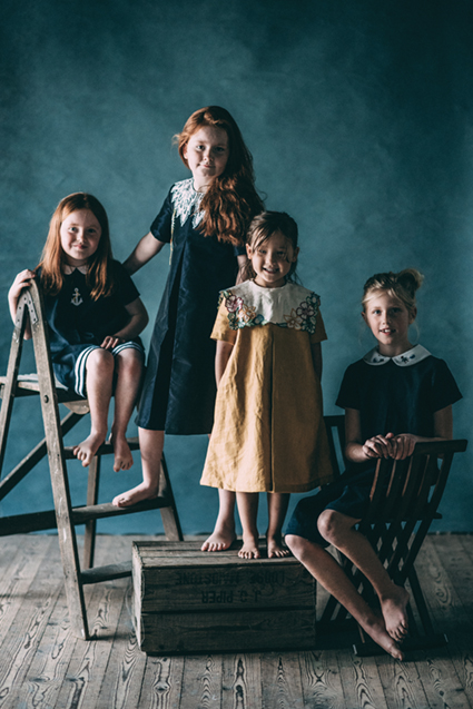 Frock star new kids sewing pattern collection from Sew la Di Da Vintage