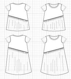 Hannah Top/dress from DG Patterns
