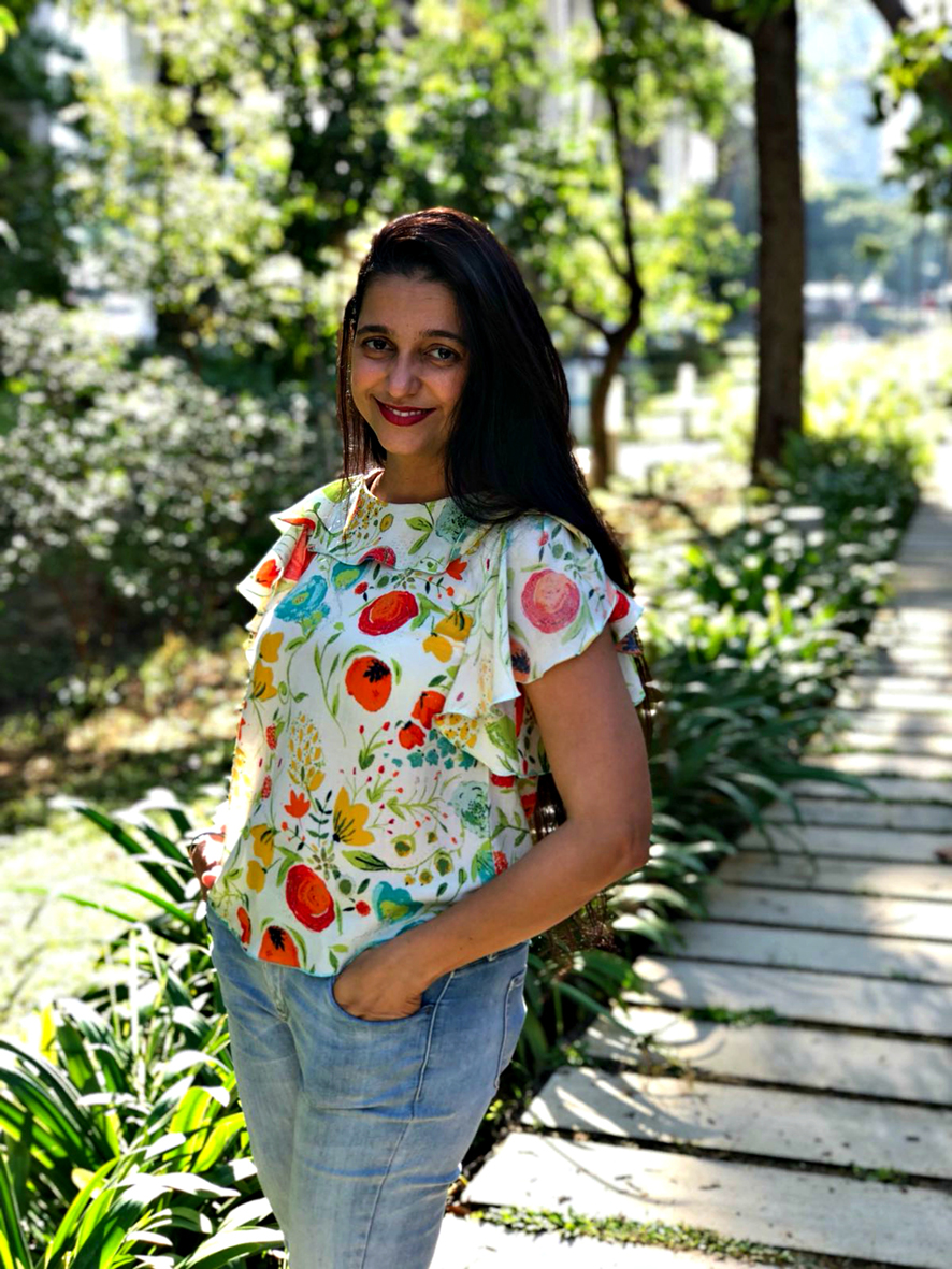 "Kiran Grewal - ""I adore my Synthia top. It makes me feel like dancing in a park."""