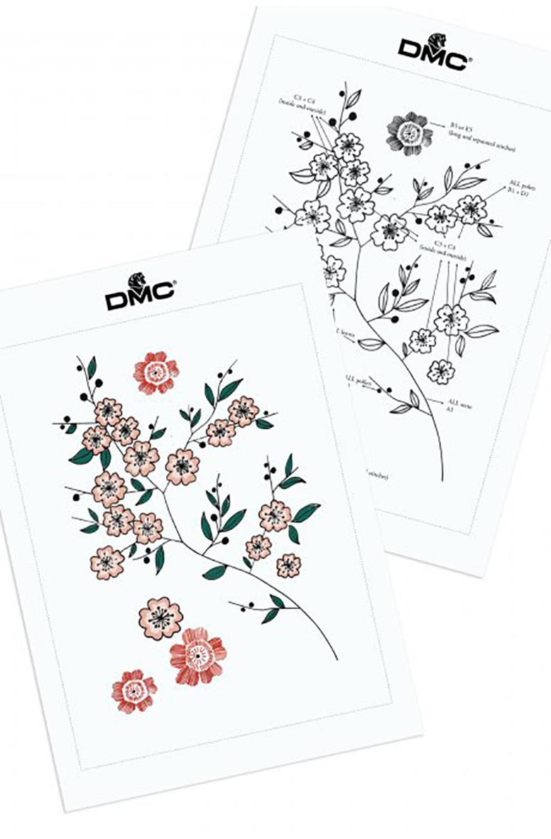 Cherry Blossom embroidery design from DMC Creative