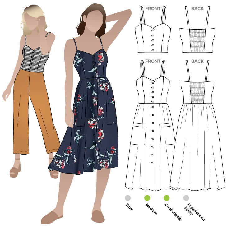 Ariana dress sewing pattern from Style Arc
