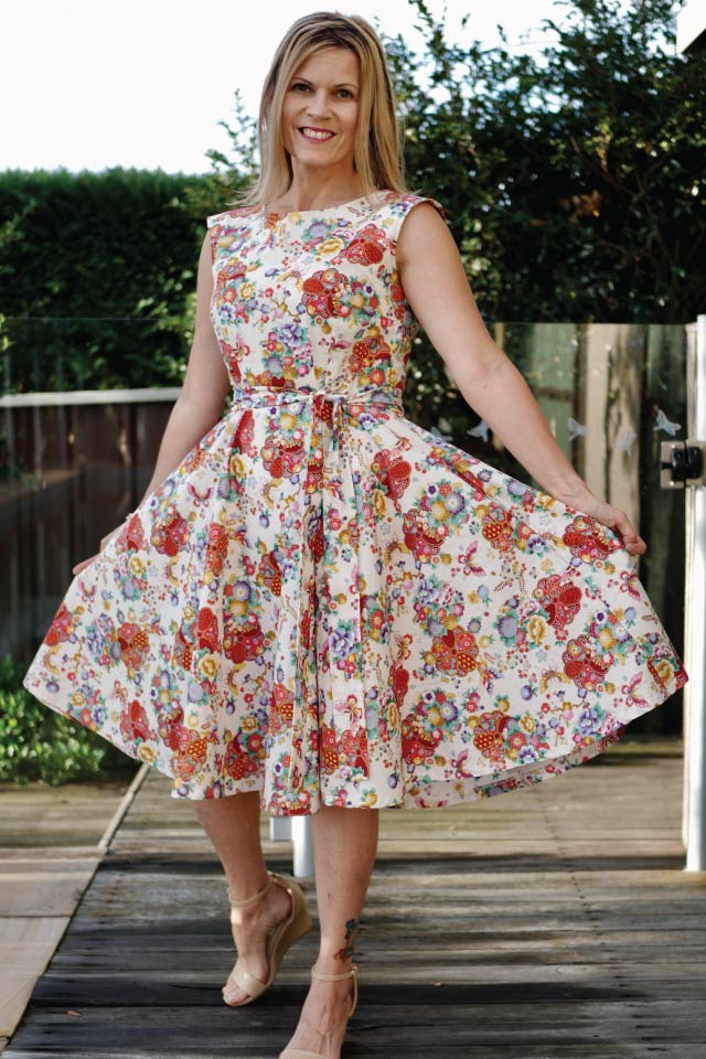 Kate Vintage Tea Dress - Designer Stitch