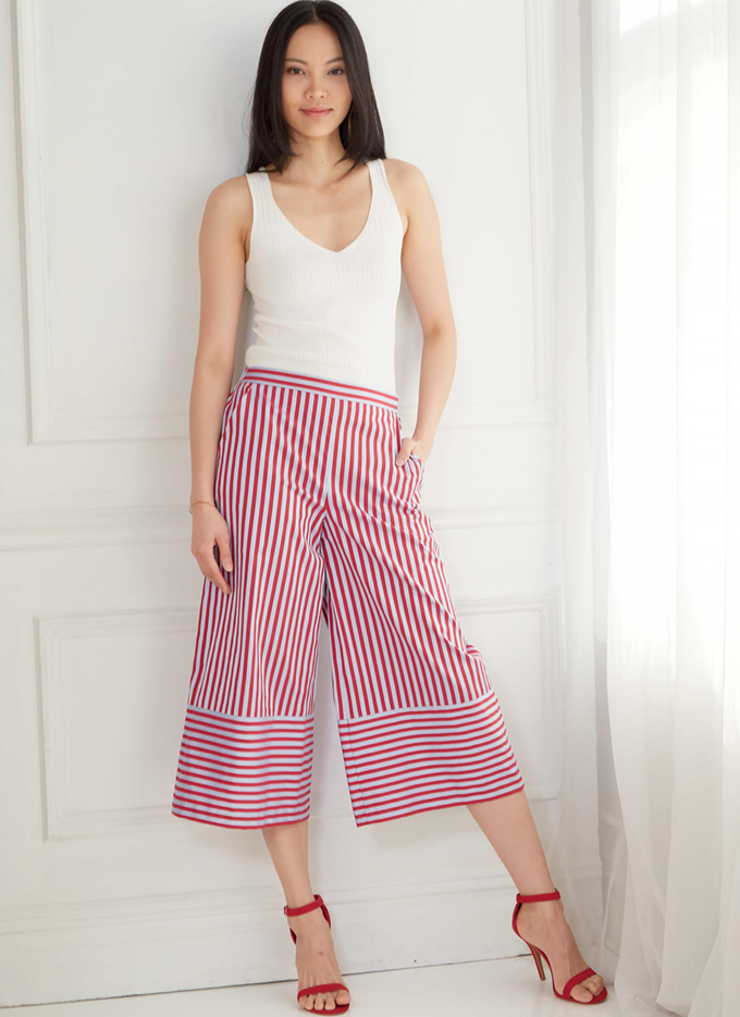M7786 - pull-on trousers with back elastic and side pockets
