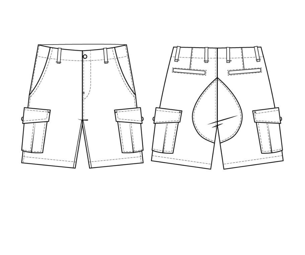 Cargo shorts from Wardrobe by Me