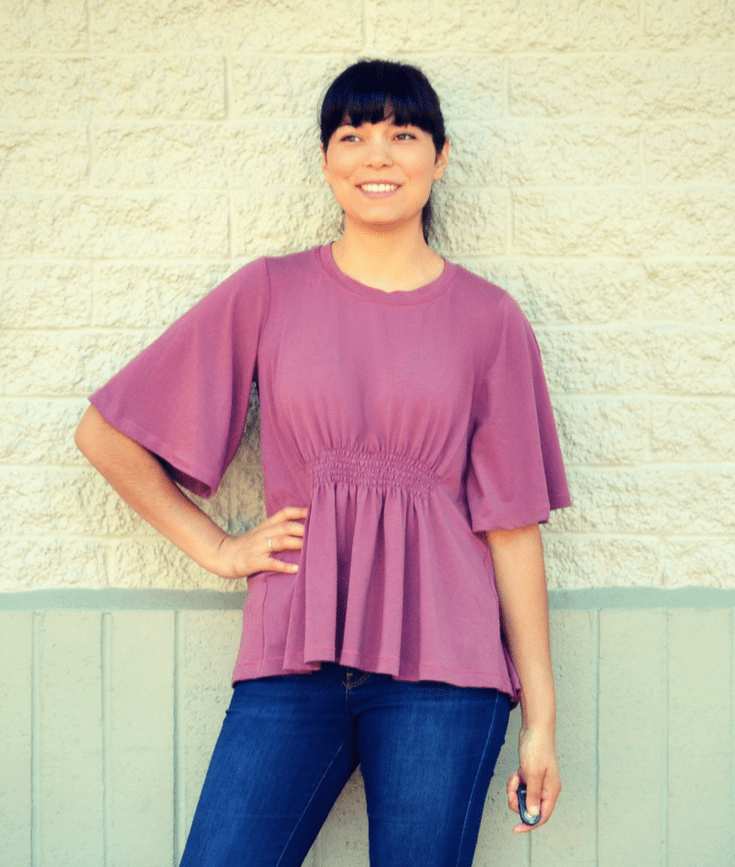 Silva top sewing pattern from DG Patterns
