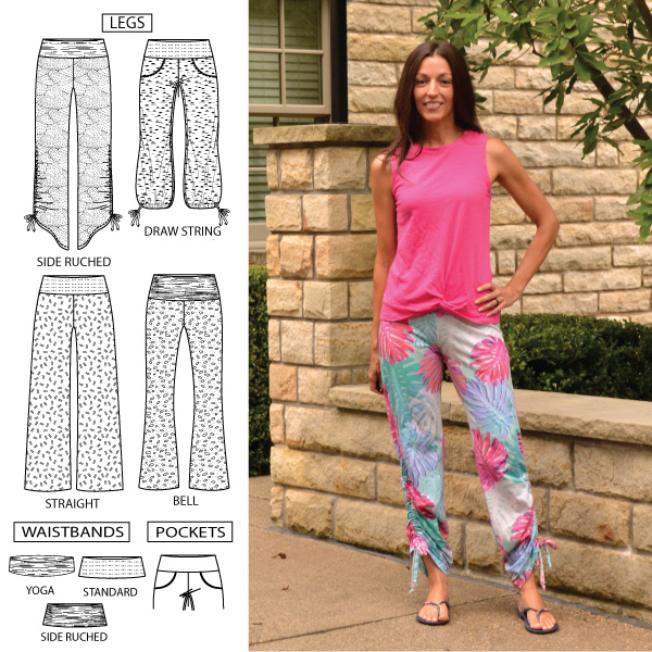 Shakti jersey pants from Designer Stitch