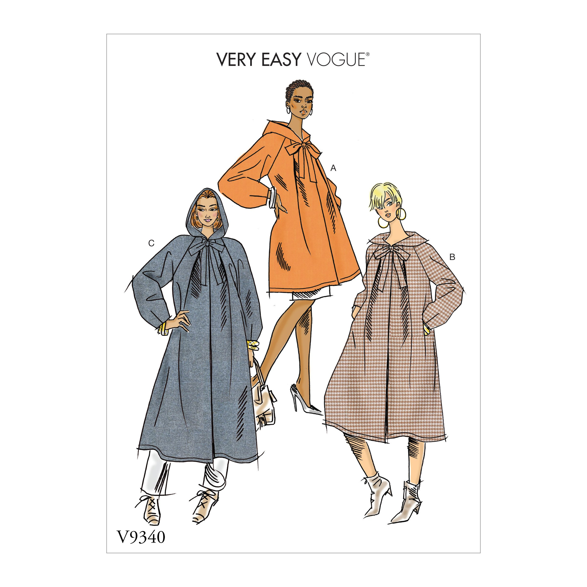 Vogue 9340 - Hooded coats from Very easy range
