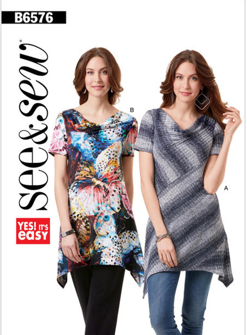 Butterick 6576 knit tops