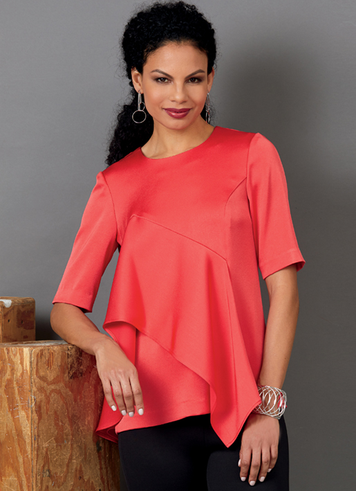 Butterick 6594 ruffle tops