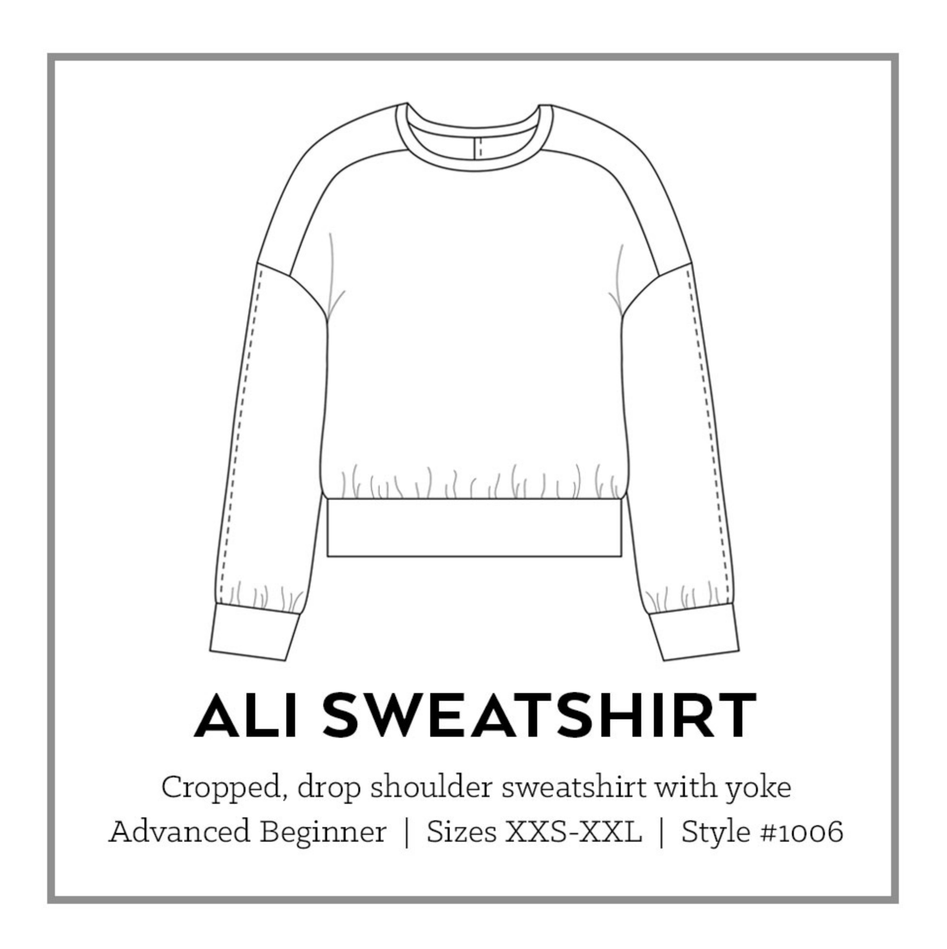 Ali sweatshirt from Sew DIY