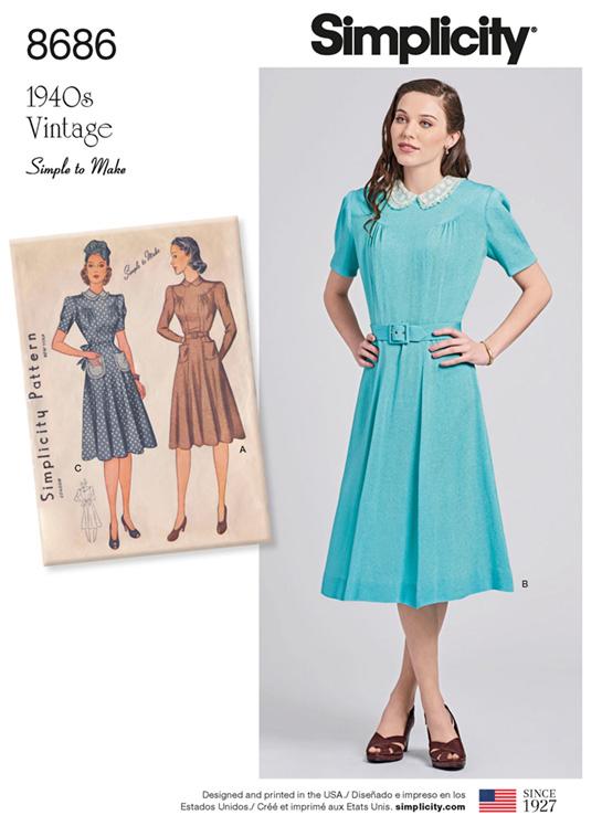 Simplicity 8686 Vintage dress